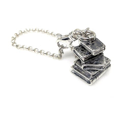 The Stack of Books Keychain