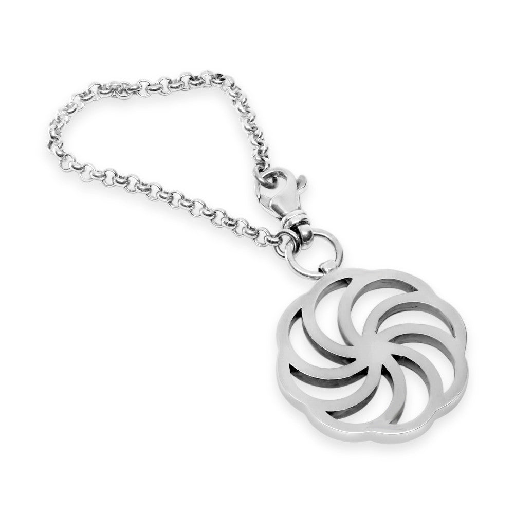 The Sterling Silver Eternity Keychain Mava Jewelry