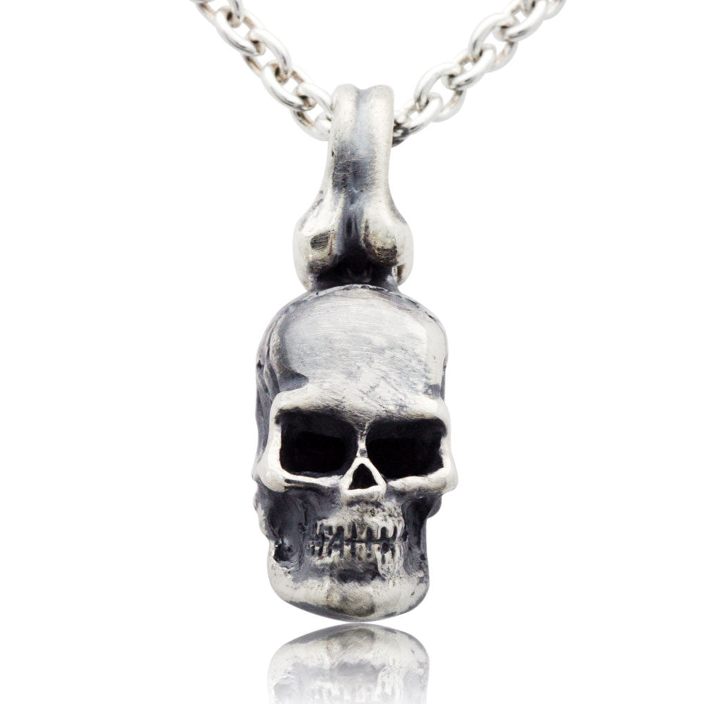 The sterling silver rugged skull pendant mava jewelry mozeypictures Image collections