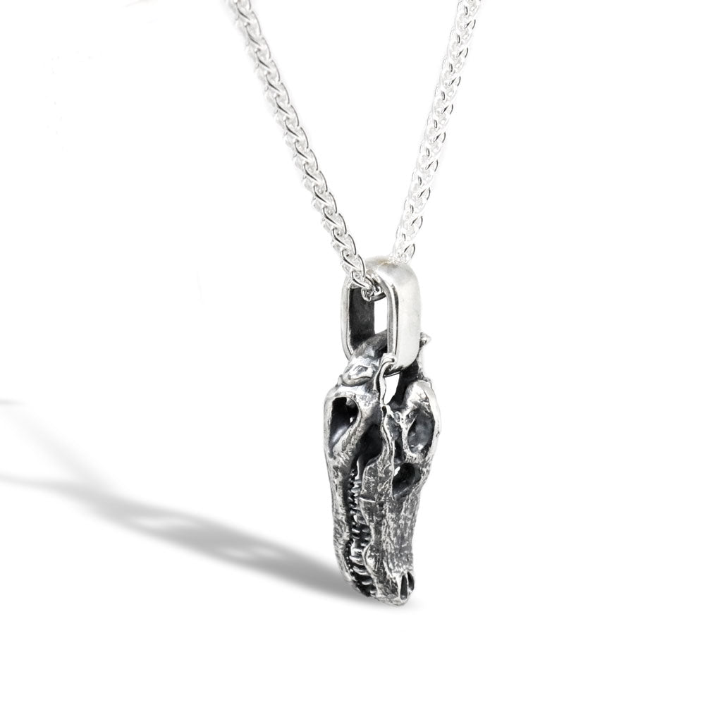163e606b39f The Sterling Silver Crocodile Skull Pendant | MAVA Jewelry – MAVA ...