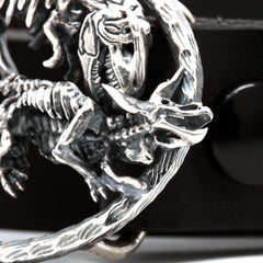 The T-Rex vs Triceratops Belt Buckle