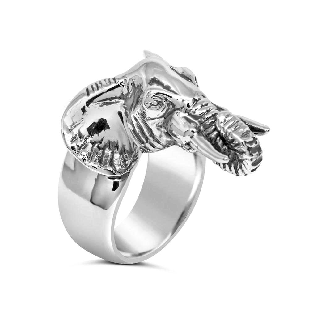 elephant steel ring custom stainless engraved engagement personalized fit name rings products with comfort