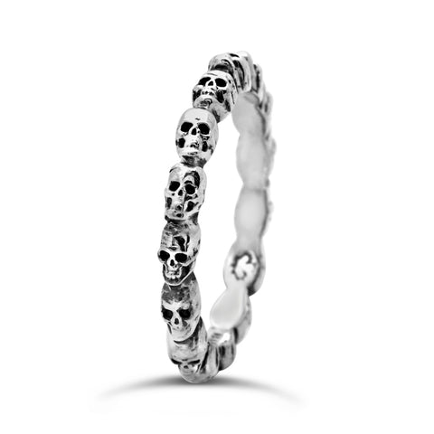 The Sideways Skulls Ring