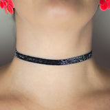 Glitter Choker Necklace