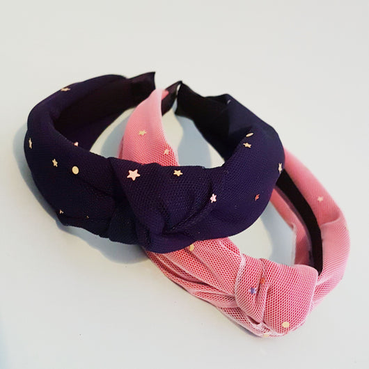 Moon and Stars Tulle Turban band
