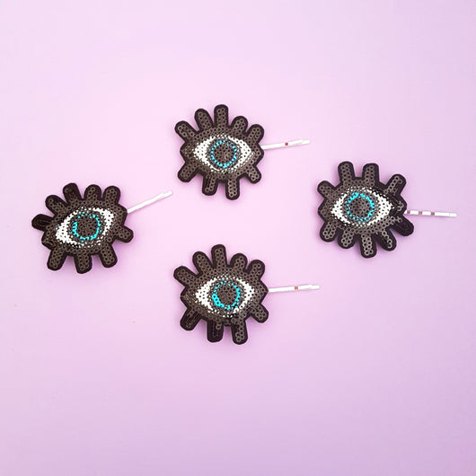 All Seeing Eye Bobby Pin Duo - Gg's Pin-up Couture