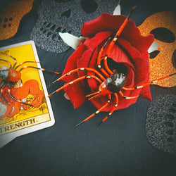Spider Rose Halloween Flower - Gg's Pin-up Couture