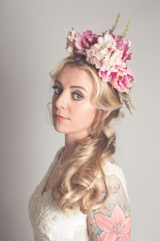 Hydrangea and Peony Floral Crown - Gg's Pin-up Couture