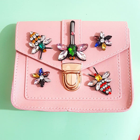 Pink Insect Satchel Bag