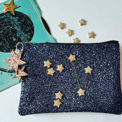 Glitter Constellation Zodiac Clutch Bag - Gg's Pin-up Couture