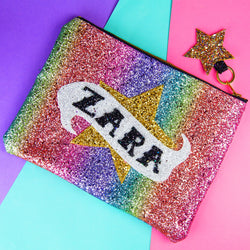 Rainbow Star Scroll Clutch Bag - Gg's Pin-up Couture
