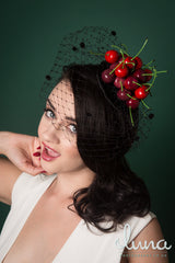 a kitsch vintage inspired cherry fascinator