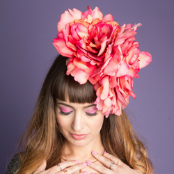 Giant Dahlia Fascinator - SOLD OUT