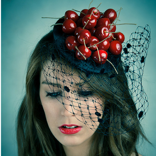 Pile of Cherries Fascinator