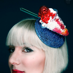 Screwball Ice Cream Diamante Fascinator - Gg's Pin-up Couture