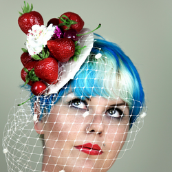 Strawberries and Cream Fascinator - Gg's Pin-up Couture