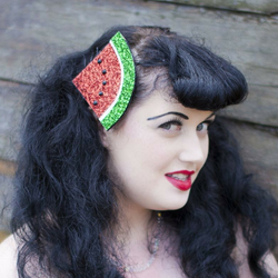 glitter watermelon clip fascinator