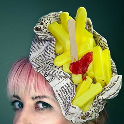 bag of chips hat fascinator quirky fu
