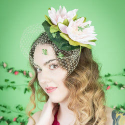 fascinator hat with frogs lily pad ascot races