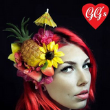Quirky Tropical Pineapple Floral Fascinator