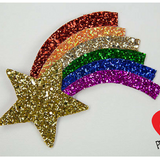 Rainbow Star Glitter Clip - Gg's Pin-up Couture