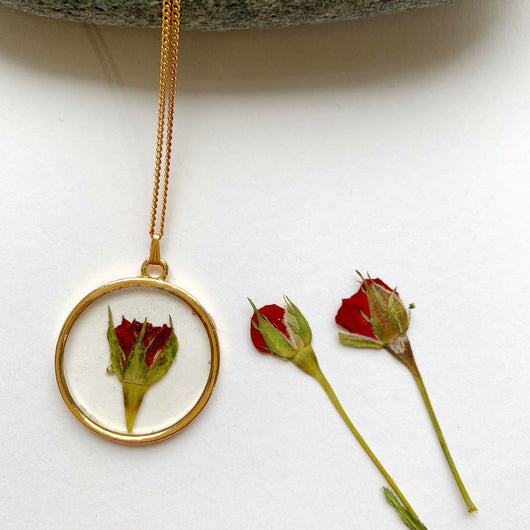 Rosebud Pendant - also available in Silver