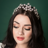 star tiara fascinator headband