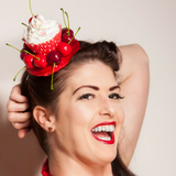 Cherry Cupcake Fascinator - Gg's Pin-up Couture