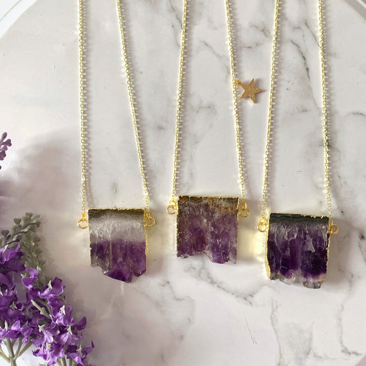 Amethyst Slice Necklace - Gg's Pin-up Couture