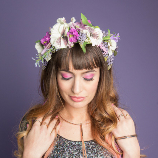 Pansy Wildflower Crown