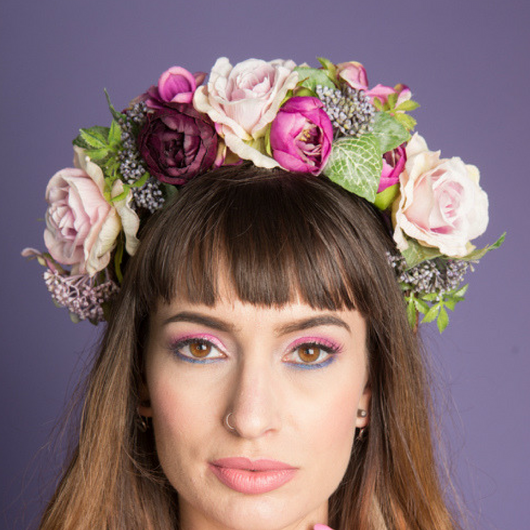Rustic Purple Flower Crown - Gg's Pin-up Couture