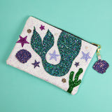 Mermaid Tail Glitter Clutch