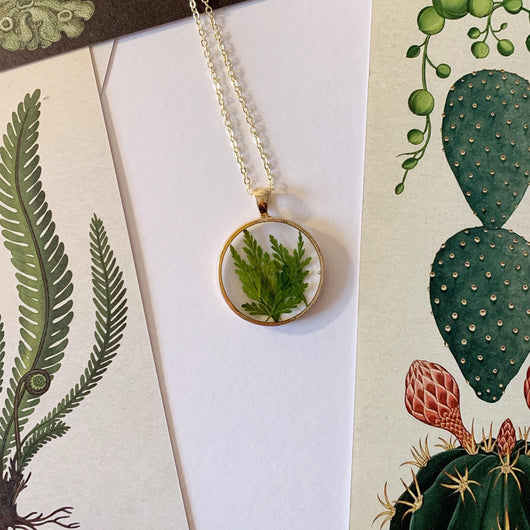 Pressed Fern Leaf Pendant - Gg's Pin-up Couture