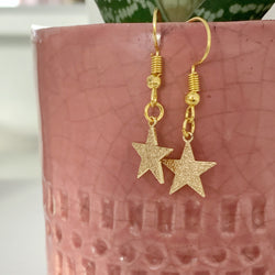 Star Dropper Earrings