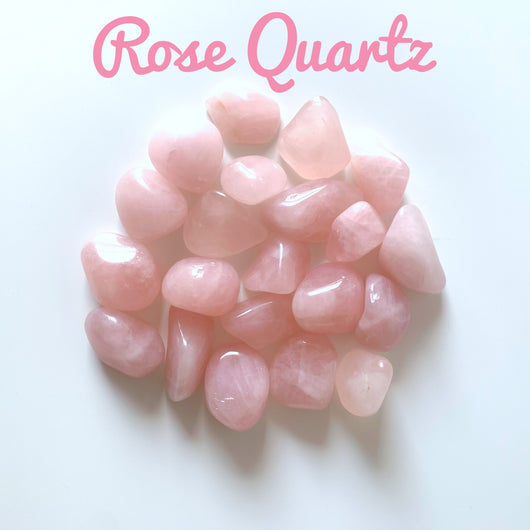 Rose quartz tumblestone - Gg's Pin-up Couture
