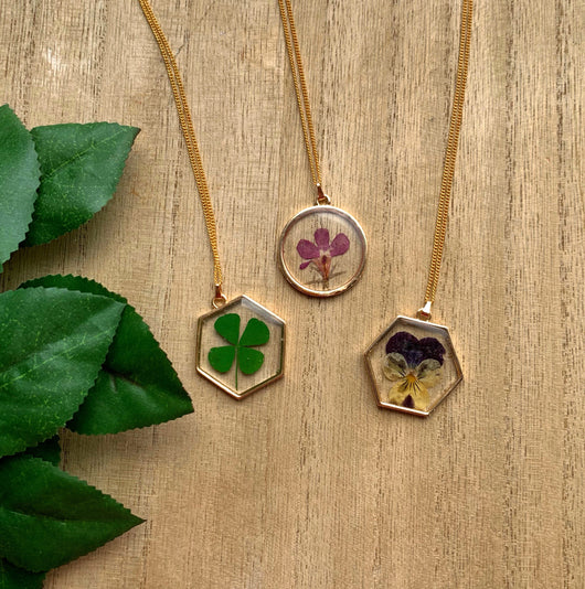 Real Flower Pendants - Gg's Pin-up Couture