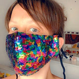 Rainbow Sequin Mask - Gg's Pin-up Couture