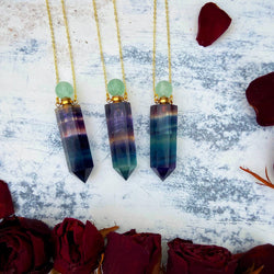 Rainbow Fluorite Apothecary Bottle - Gg's Pin-up Couture