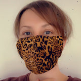 Leopard Print Face Mask - Gg's Pin-up Couture