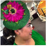 lily pad frog hat quirky fascinator