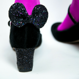 Mouse Ear Glitter Shoe Clips