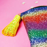 Rainbow Glitter Clutch Bag - Gg's Pin-up Couture