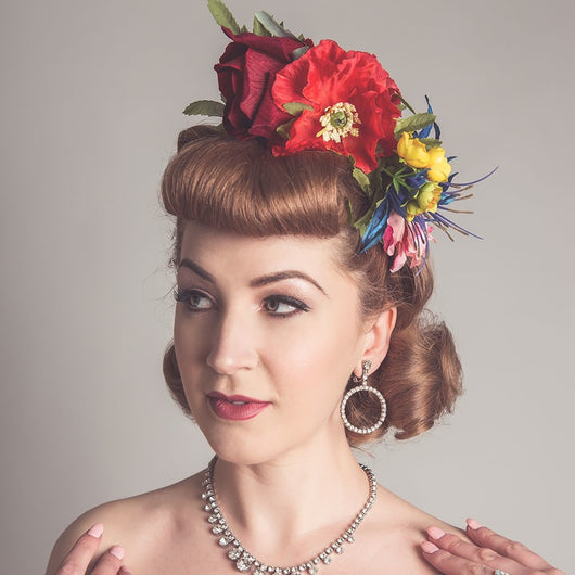 Rainbow Wildflower Crown - Gg's Pin-up Couture