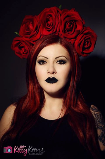 Red Roses Floral Crown - Gg's Pin-up Couture