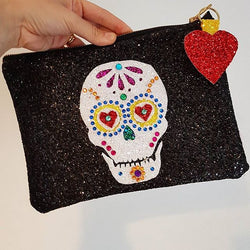 Sugar Skull Glitter Clutch - Gg's Pin-up Couture