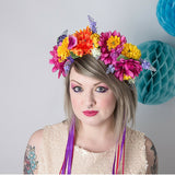 Summer Blooms Meadow Floral Crown - Gg's Pin-up Couture