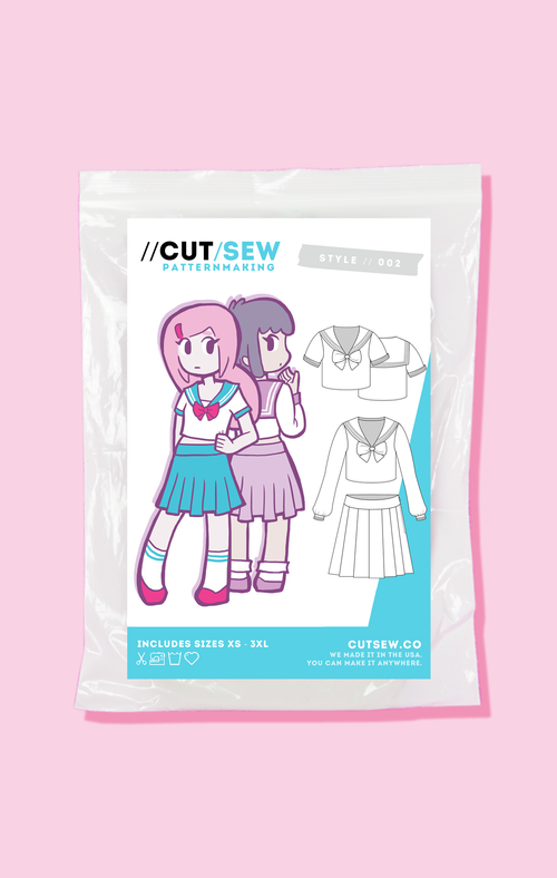 Beginner Friendly Seifuku School Girl Sewing Pattern