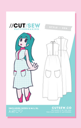 CUT/SEW Day Maxi Dress Fashion Sewing Pattern Tag Front