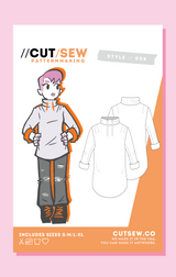 CUT/SEW Sweatshirt Unisex Sewing Pattern Tag Front