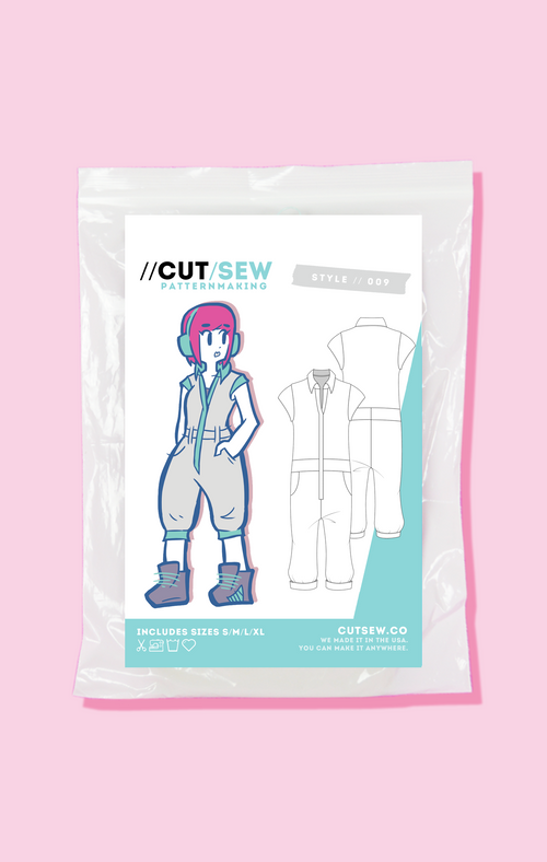 Beginner Friendly Flight Suit Jumpsuit Sewing Pattern